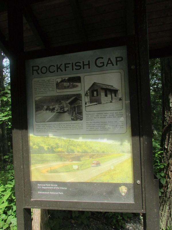 Rockfish Gap Marker image. Click for full size.