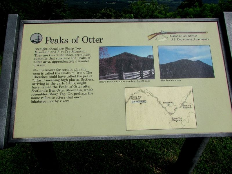Peaks of Otter Marker image. Click for full size.