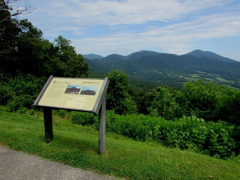 Marker at the the Sharp Top Overlook image. Click for full size.