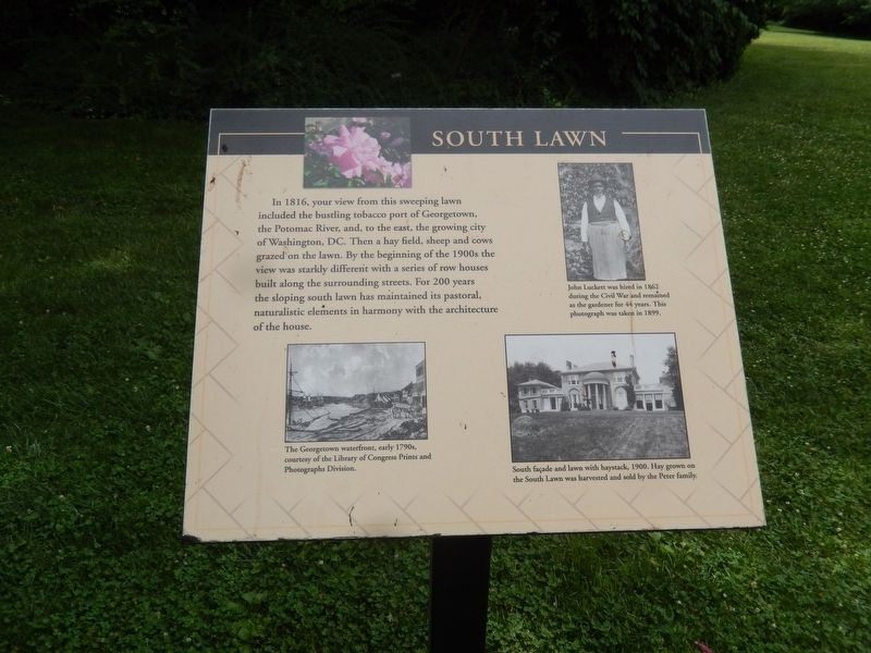 South Lawn Marker image. Click for full size.