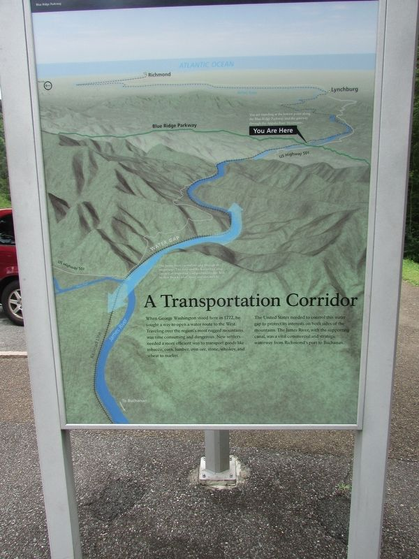 A Transportation Corridor Marker image. Click for full size.