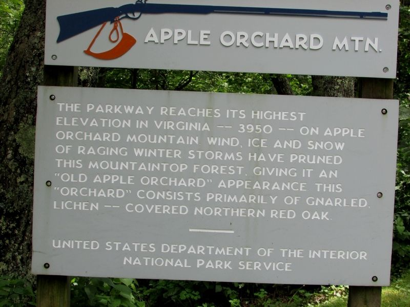 Apple Orchard Mountain Marker image. Click for full size.