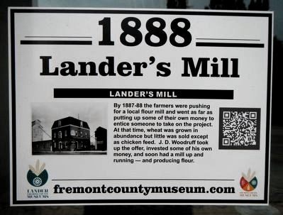 Lander's Mill Marker image. Click for full size.