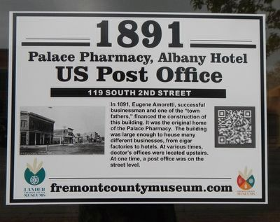 Palace Pharmacy, Albany Hotel, US Post Office Marker image. Click for full size.