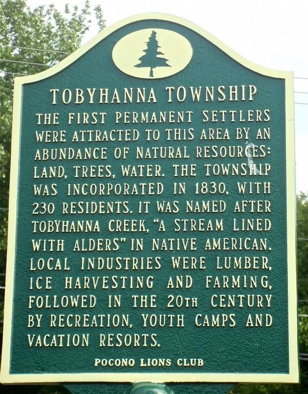 Tobyhanna Township Marker image. Click for full size.