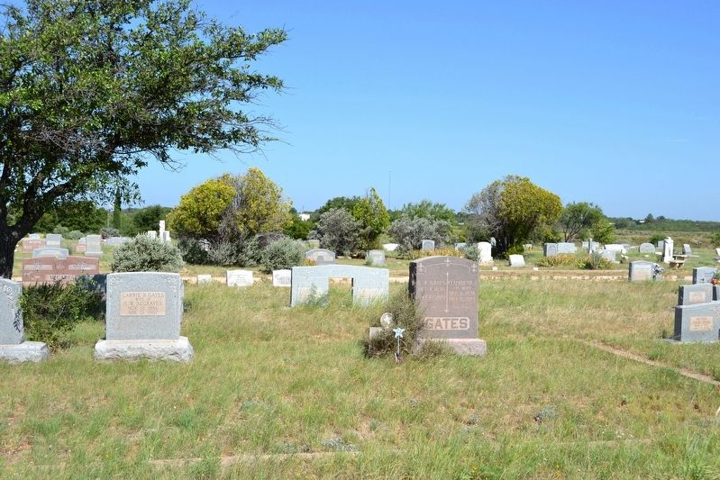 Cary Allen Gates Grave in Robert Lee Cemetery image. Click for full size.