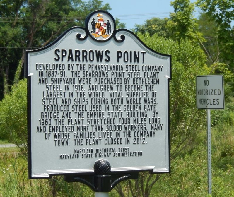 Sparrows Point Marker image. Click for full size.