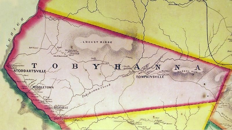 Tobyhanna Township Map Circa 1860 image. Click for full size.