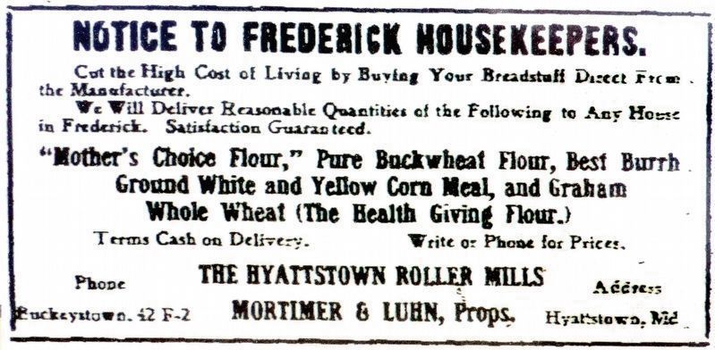 Notice to Frederick House Keepers image. Click for full size.