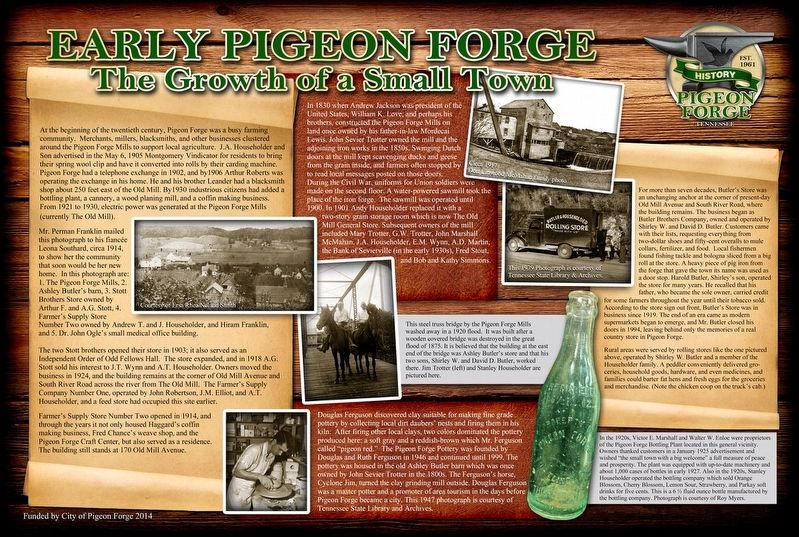 Early Pigeon Forge Marker image. Click for full size.