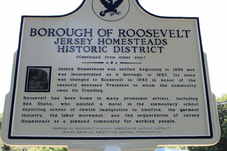 Borough of Roosevelt Marker image. Click for full size.
