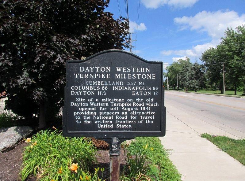 Dayton Western Turnpike Milestone Historical Marker