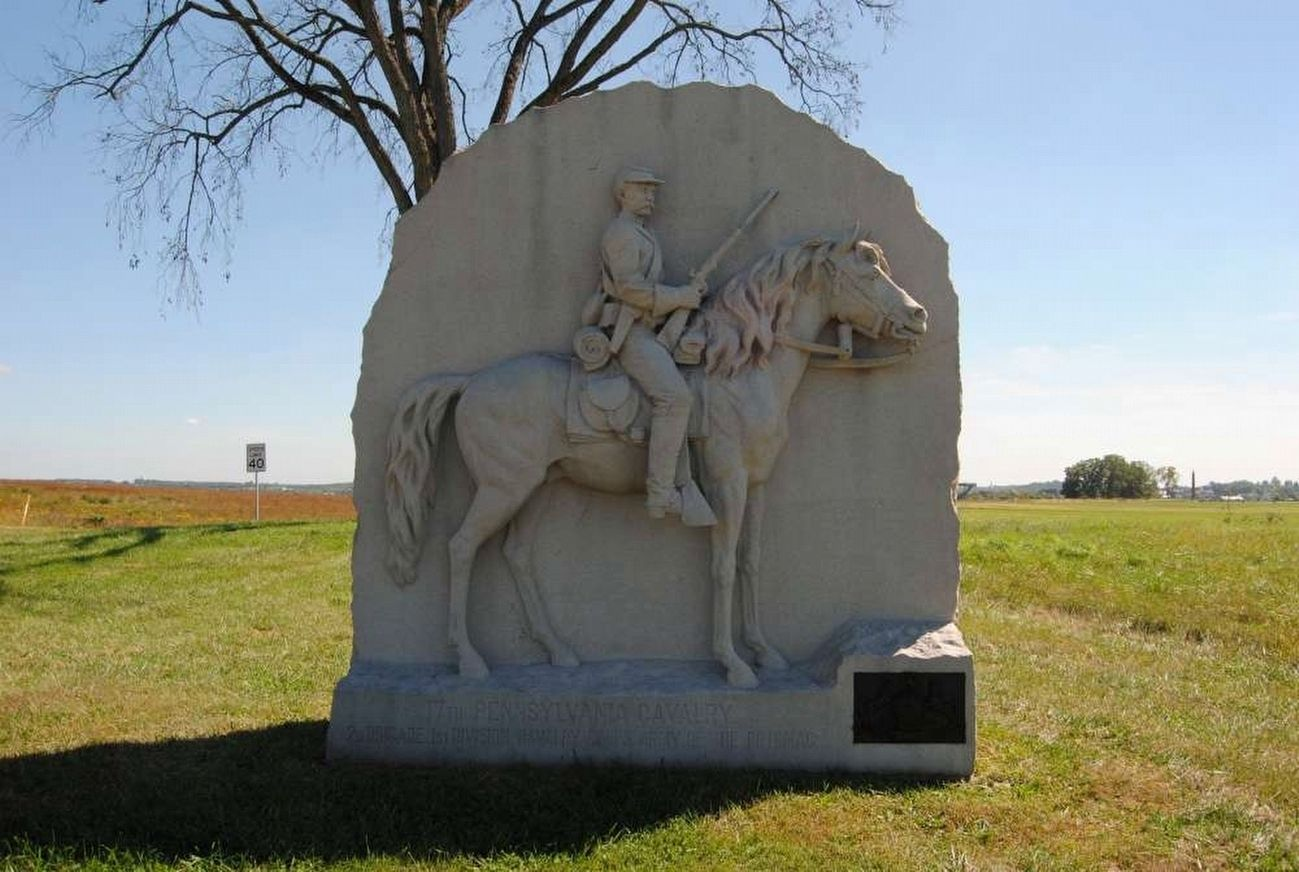 17th Pennsylvania Cavalry Monument (Front) image. Click for full size.