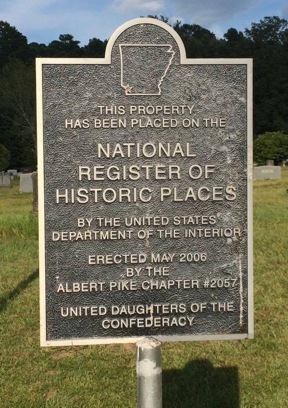 Cemetery on National Register of Historic Places. image. Click for full size.