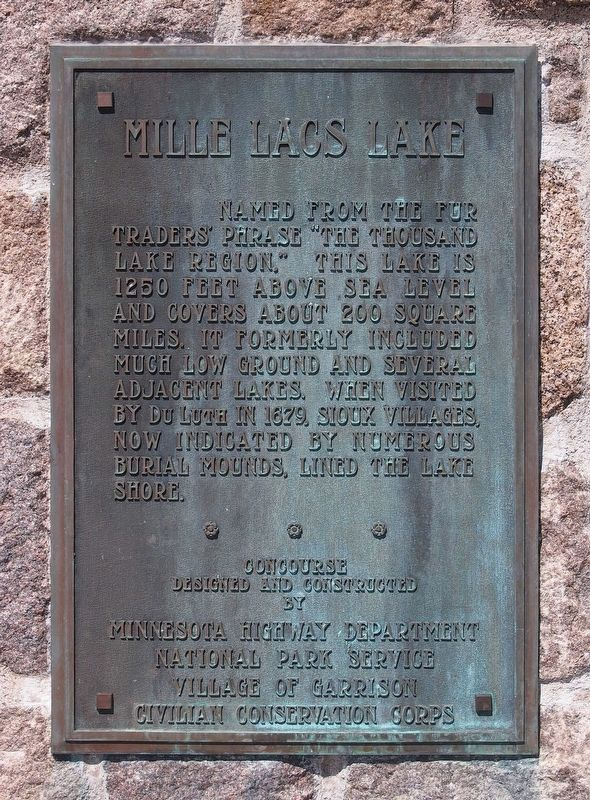 Mille Lacs Lake Marker image. Click for full size.