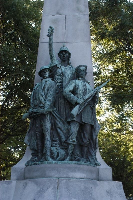 Manchester NH Victory Park War Memorial Marker image. Click for full size.