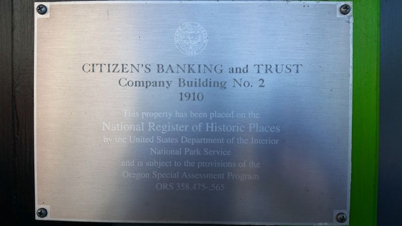 Citizens Banking and Trust Company Building Marker image. Click for full size.