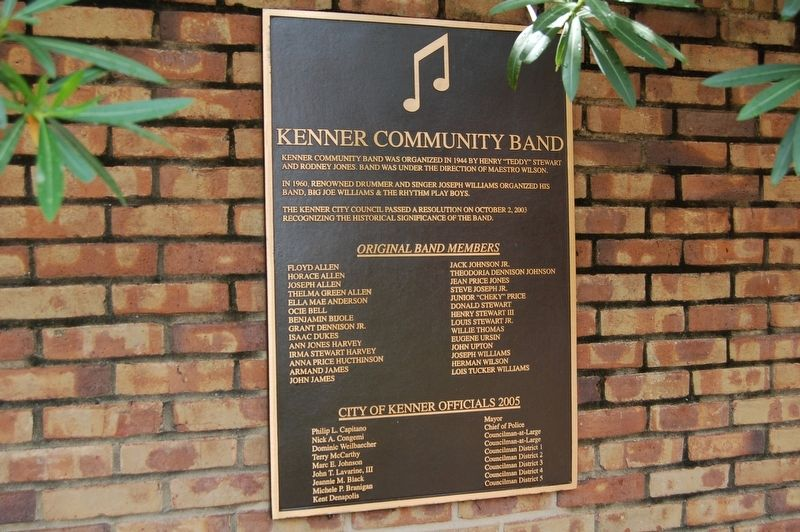 Kenner Community Band Marker image. Click for full size.