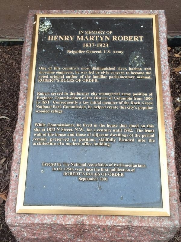 Henry Martyn Robert Marker image. Click for full size.