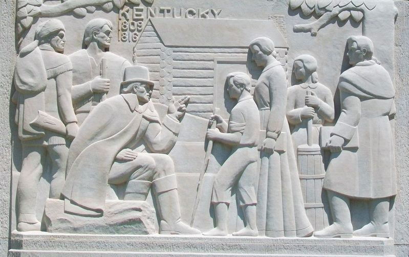 Lincoln Boyhood National Memorial Relief image. Click for full size.