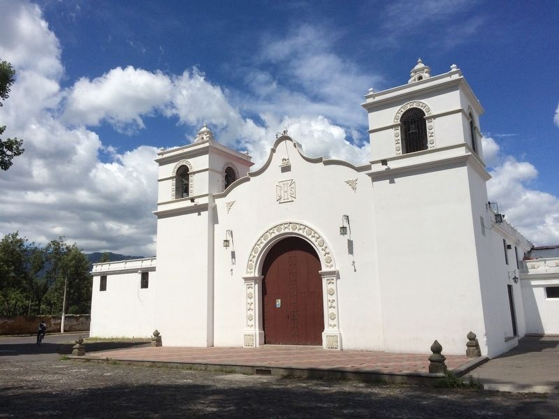 The Catholic Church of the small village of San Bartolomé Becerra image. Click for full size.