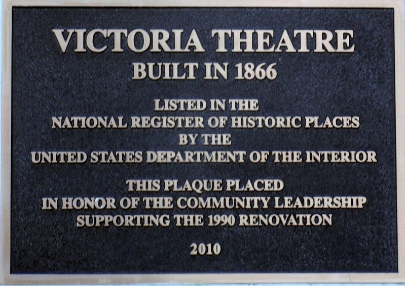 Victoria Theater Marker image. Click for full size.