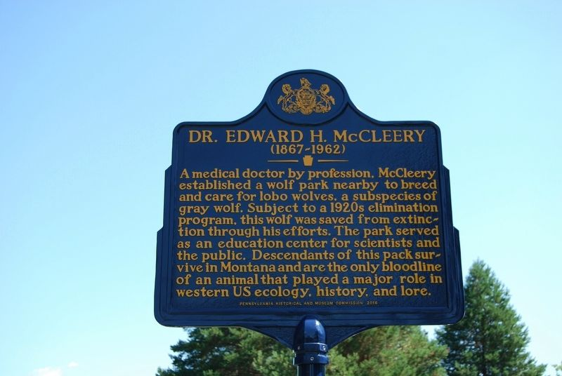 Dr. Edward H. McCleery Marker image. Click for full size.