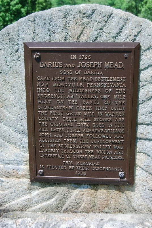 In 1795, Darius and Joseph Mead Marker image. Click for full size.