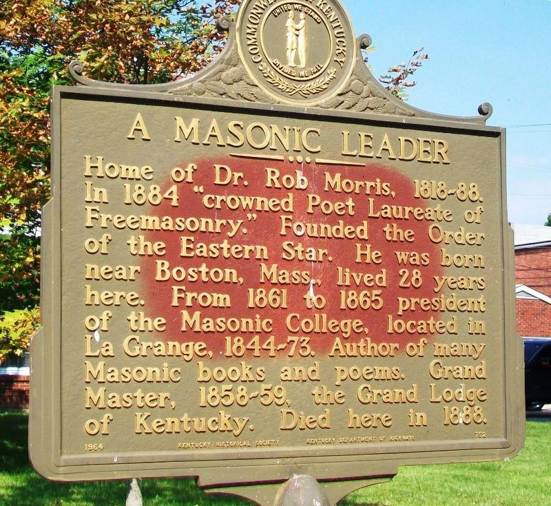 A Masonic Leader Marker image. Click for full size.