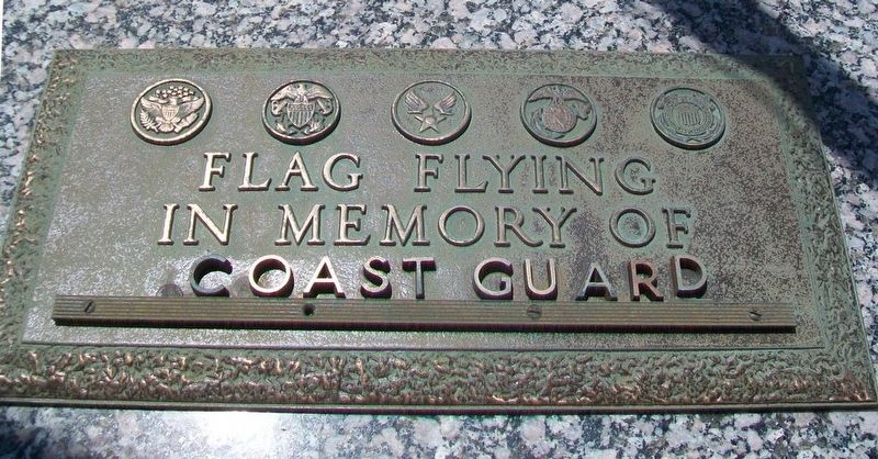 Veterans Memorial Coast Guard Marker image. Click for full size.