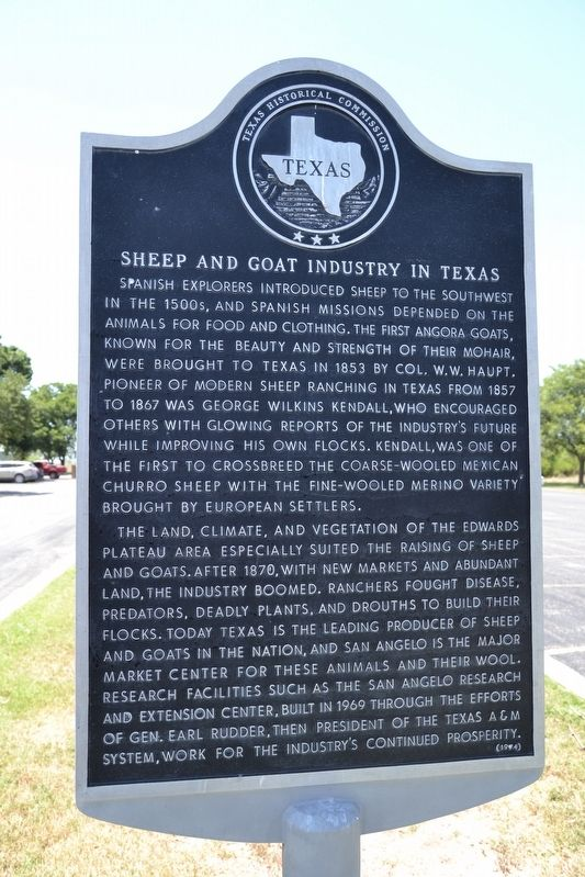 Sheep and Goat Industry Marker image. Click for full size.