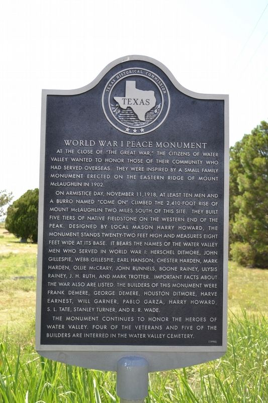 World War I Peace Monument Marker image. Click for full size.