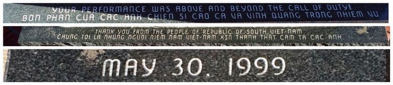 Comments at base of memorial. image. Click for full size.