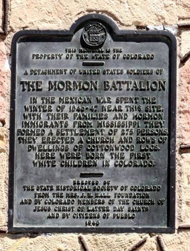 The Mormon Battalion Marker image. Click for full size.