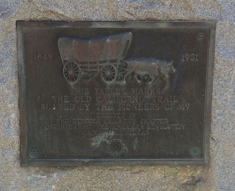 The Old California Trail Marker image. Click for full size.
