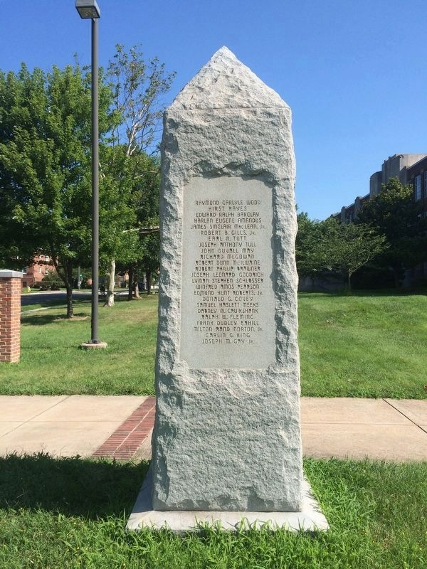 George Washington High School Marker, east side image. Click for full size.