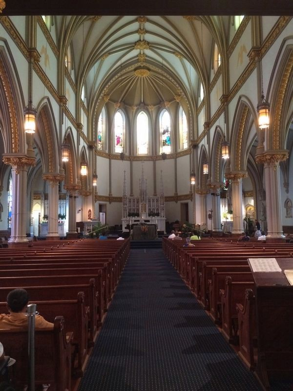 Saint Augustine Roman Catholic Church interior and altar image. Click for full size.