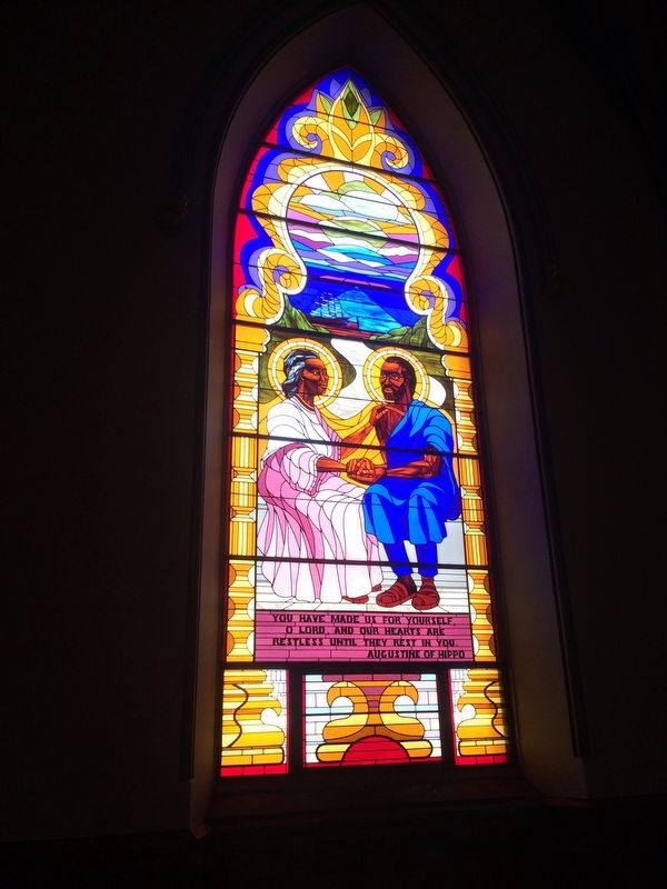 Stained glass from Saint Augustine Roman Catholic Church image. Click for full size.