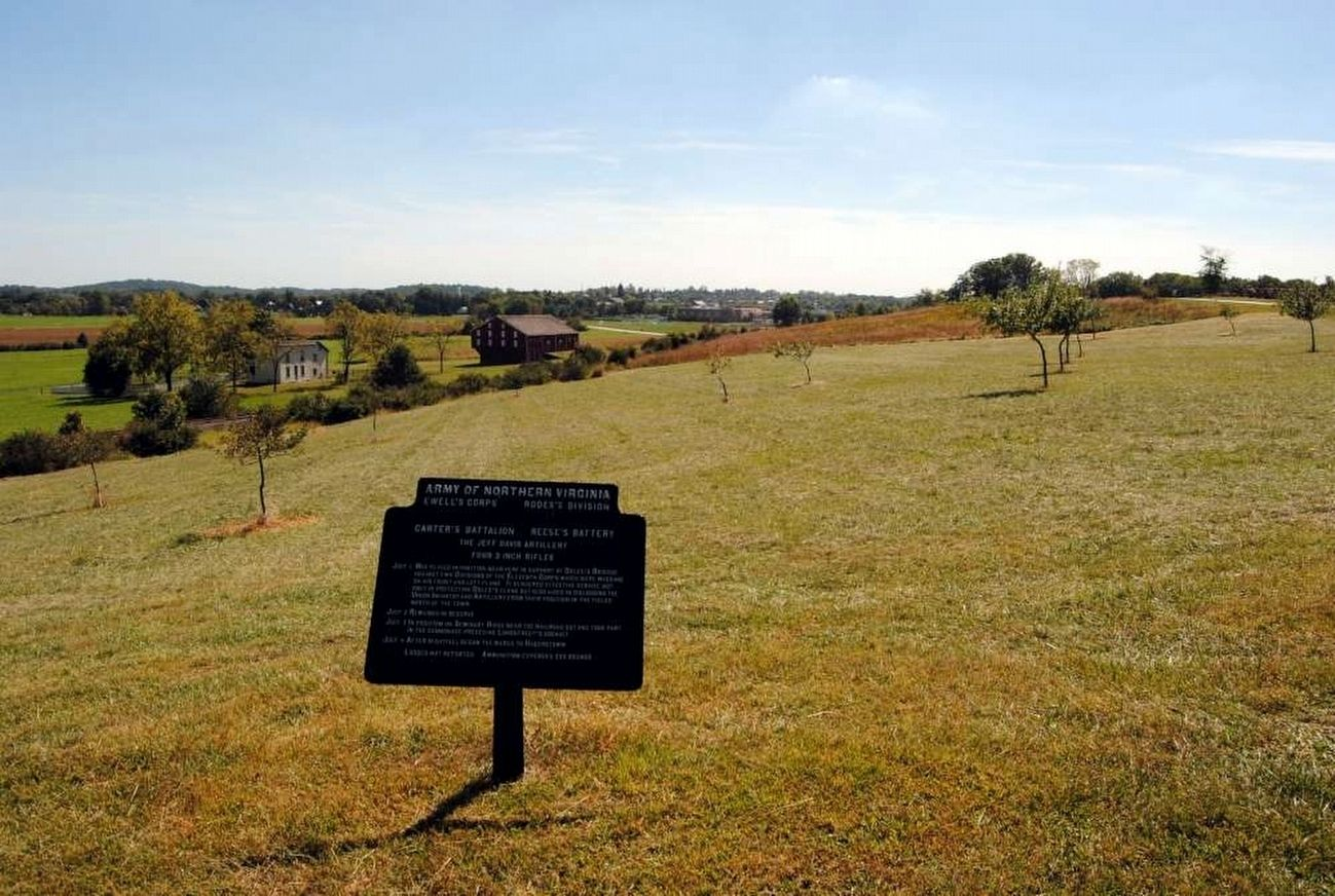 The Jeff Davis Artillery Marker<br>Over Looking McLean's Farm image. Click for full size.