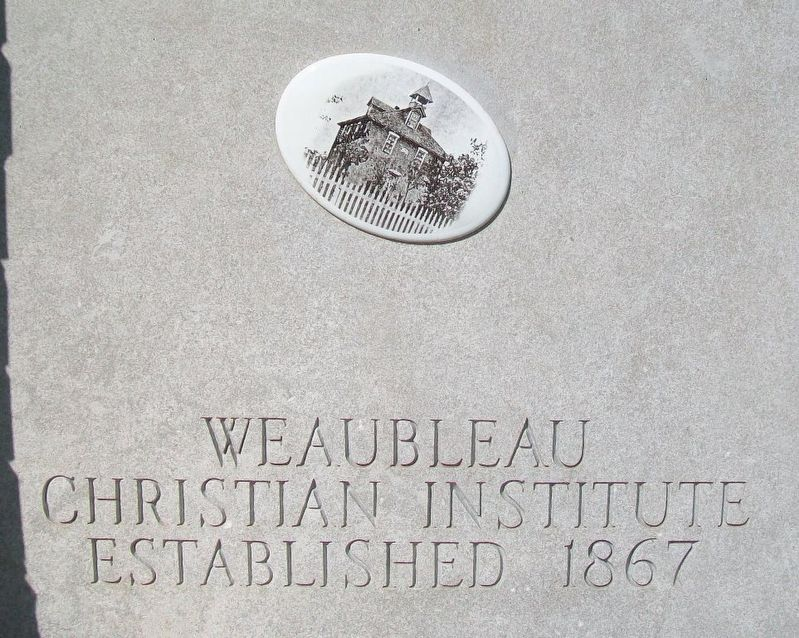 Weaubleau Christian Institute and College Marker Detail image. Click for full size.