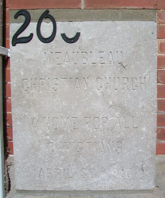 Weaubleau Christian Church Cornerstone image. Click for full size.