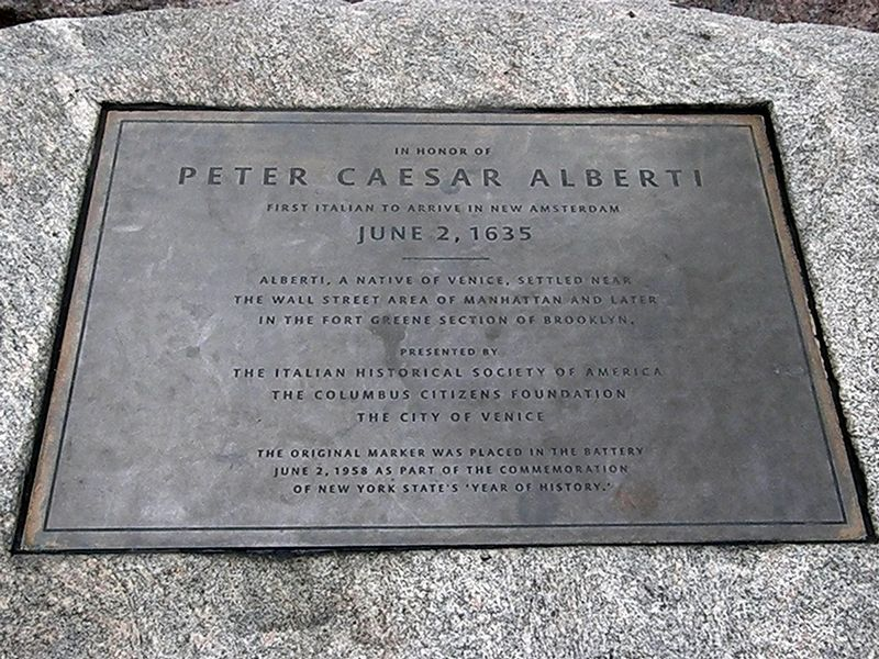 In Honor of Peter Caesar Alberti Marker image. Click for full size.