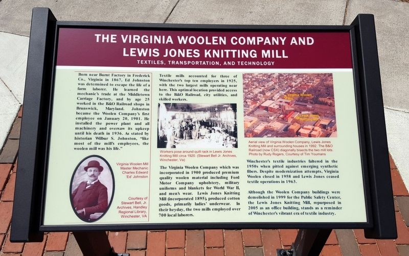 The Virginia Woolen Company and Lewis Jones Knitting Mill