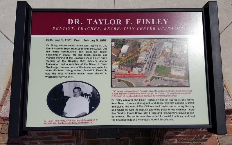 Dr. Taylor F. Finley Marker image. Click for full size.
