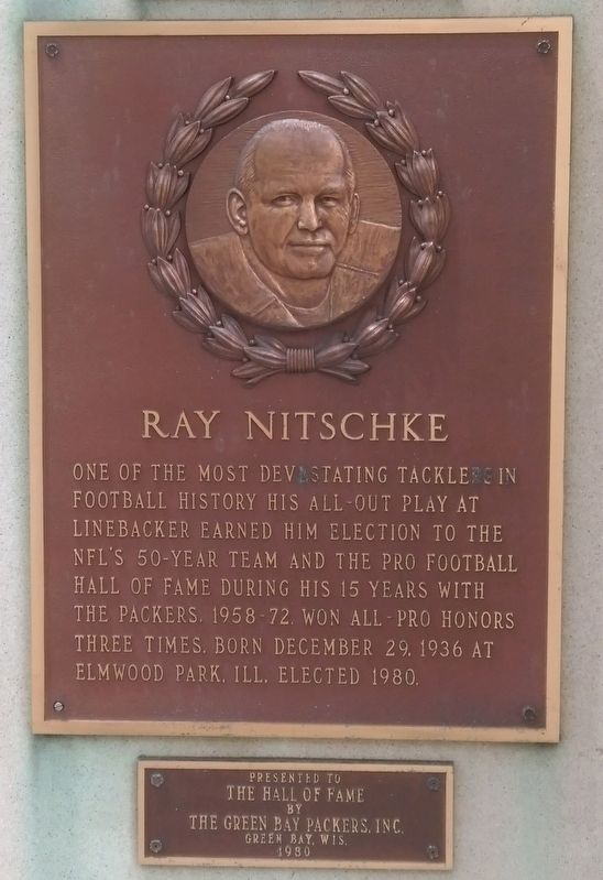 Ray Nitschke Marker image. Click for full size.
