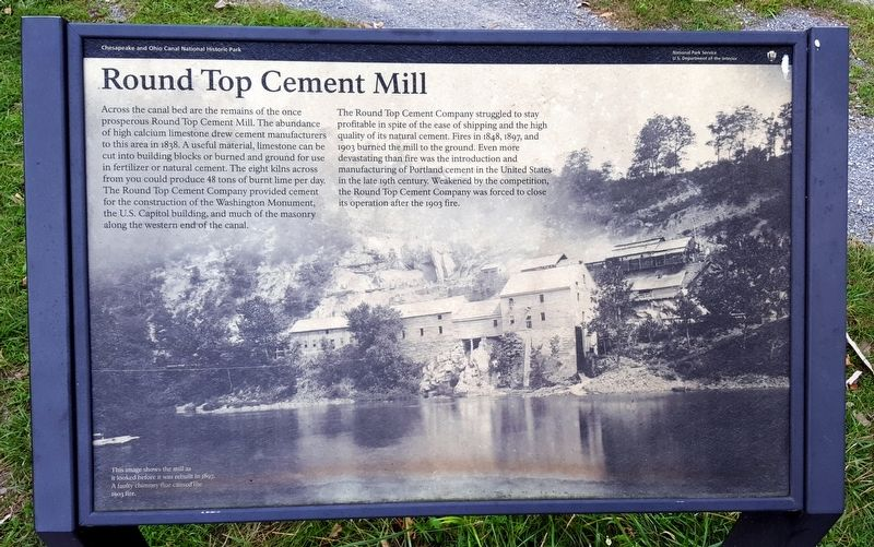 Round Top Cement Mill Marker image. Click for full size.