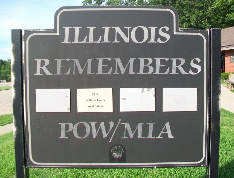 Illinois Remembers POW/MIA Marker image. Click for full size.