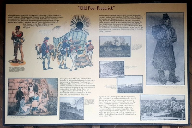 """Old Fort Frederick"" Marker image. Click for full size."