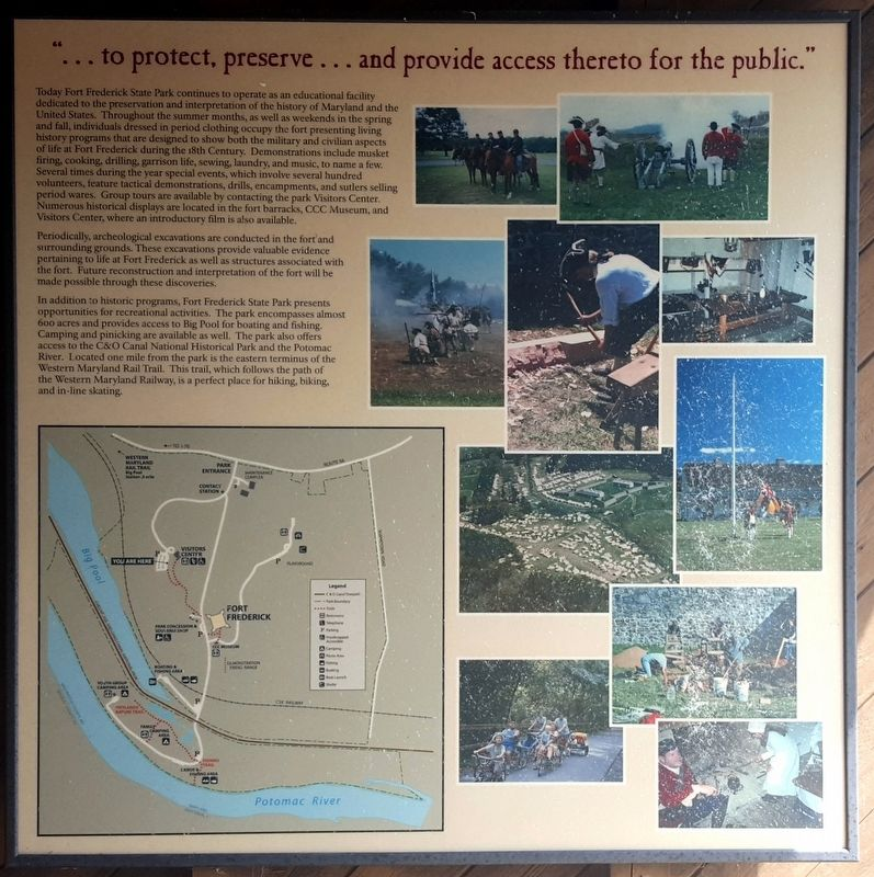 """...to protect, preserve...and provide access thereto for the public."" Marker image. Click for full size."