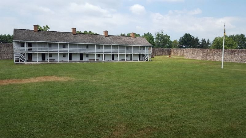 Fort Frederick Barracks image. Click for full size.